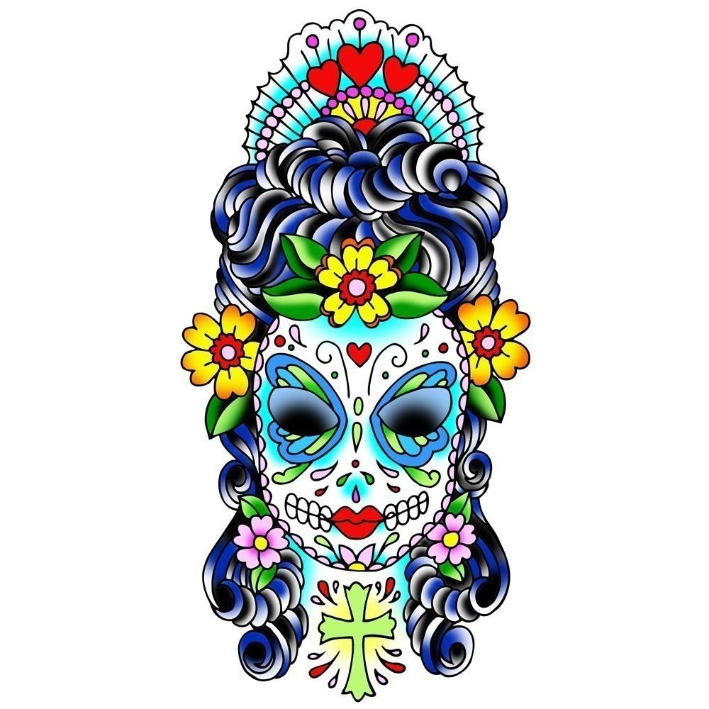 Tatouage Mexicain Signification - Tatouage tête de mort old school tatouage crâne mexicain