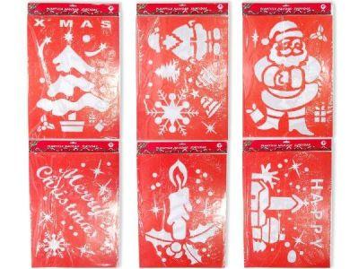 Decoracion navide a en ventanas y espejos decoracion y - Plantillas de decoracion ...