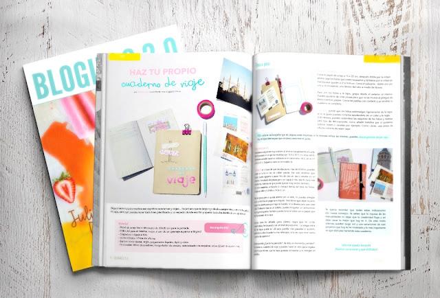 """scrap """"Dias de scrap"""" revista bloging 2.0 verano """"Haz tu propio cuaderno de viaje"""""""