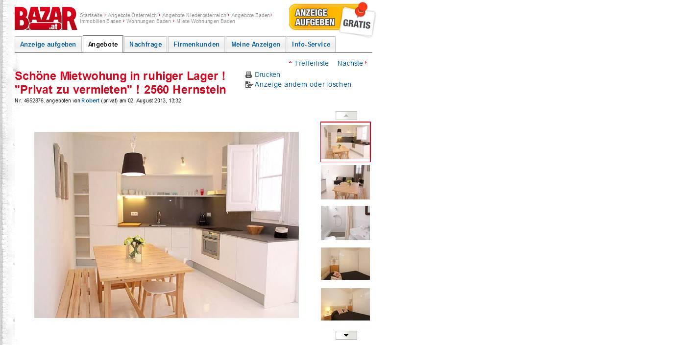 Wohnungsbetrug2013 informationen ber wohnungsbetrug for Privat haus zu mieten