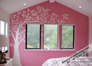tranh tường phòng ngủ