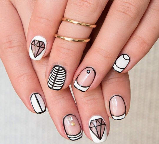 unique Literal Manicure ideas for bridal 2016