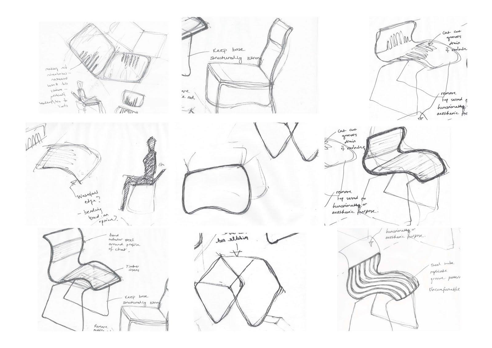 Furniture Design Sketches furniture design: thumbnail sketches