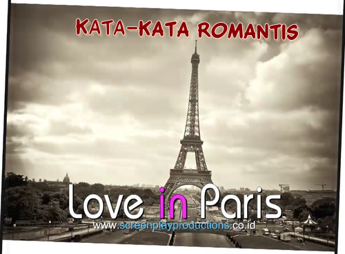Kata Kata Di Love in Paris