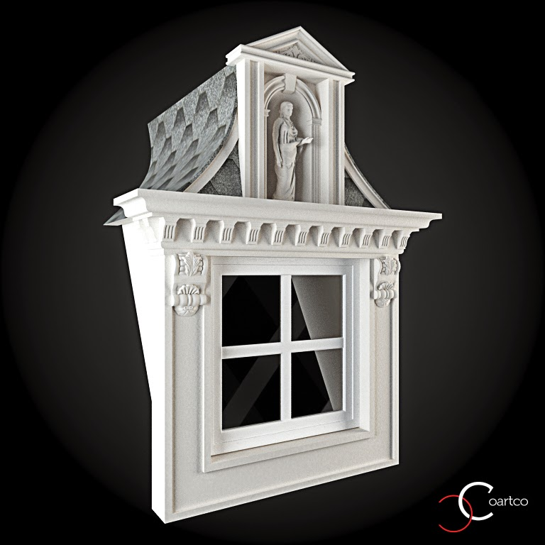 Ornamente Geamuri Exterior, fatade case cu profile decorative polistiren, profile fatada,  Model Cod: WIN-093