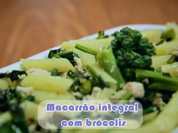 receita bela gil bela cozinha macarrão de brocolis
