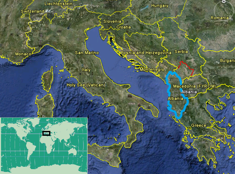 Oil and gas mergers and acquisition review will albania be the figure 1 location map of albania shown in thick blue source modified from google earth gumiabroncs Images