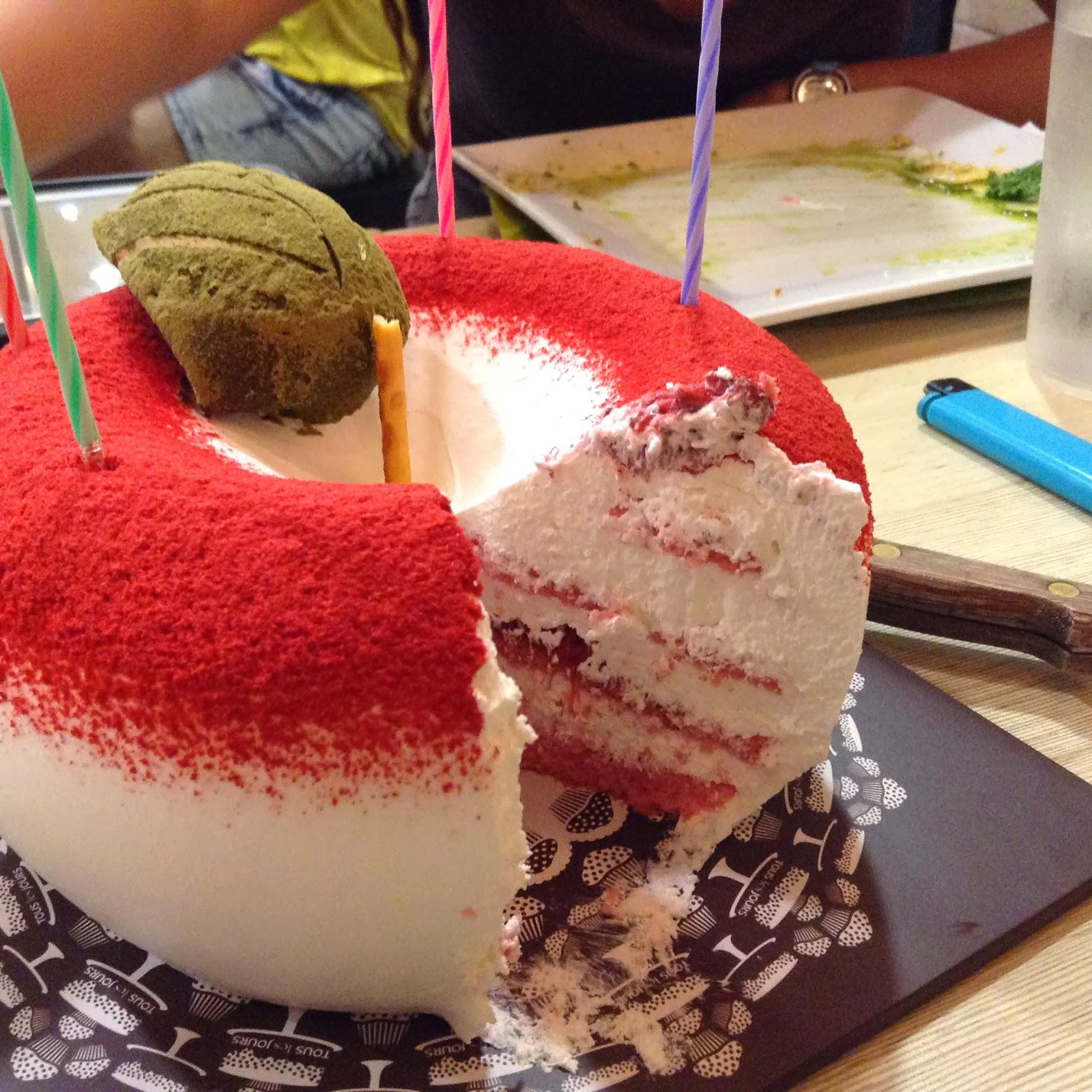 Closer look at Tous les Jours cake