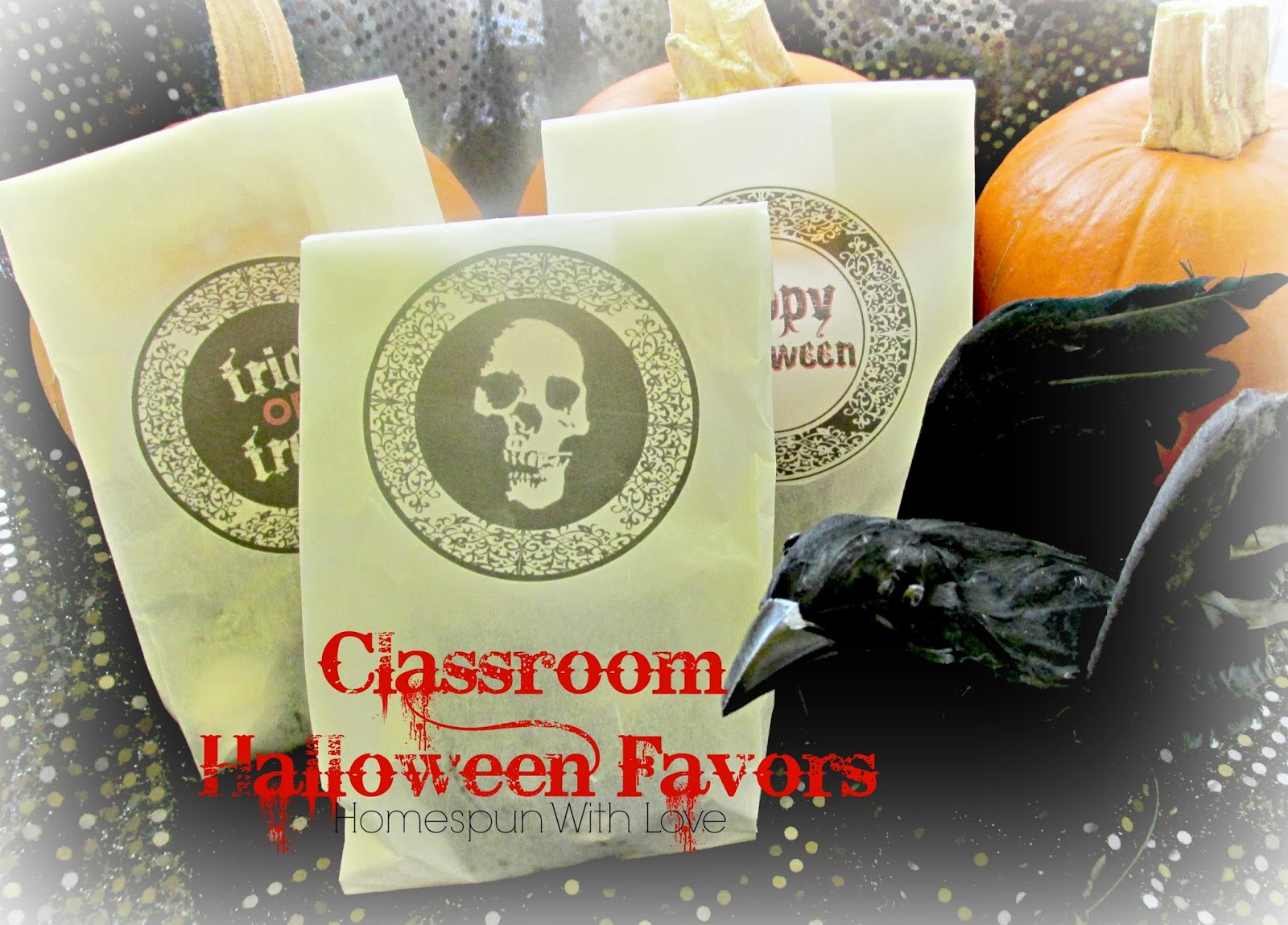 Classroom Birthday Party Favors ~ Homespun with love classroom halloween party favors