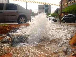 vazamento de agua