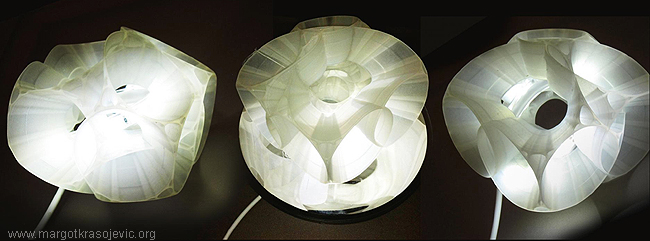Orbital Magnetic Levitating LED Table-lamp design by Margot Krasojevic