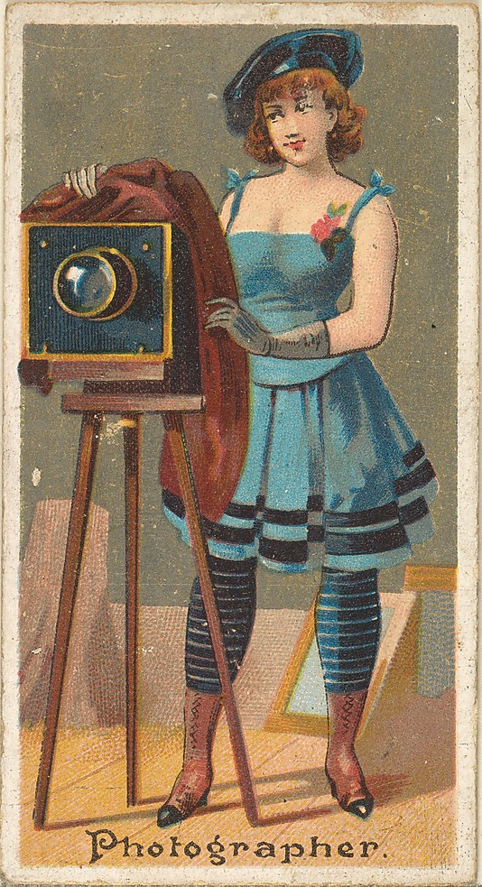 "Photographer. Vintage tobacco card ""Occupations For Women"", via ellomennopee"
