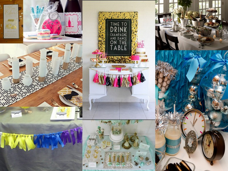 colorful and glittery New Year's Eve party inspiration board