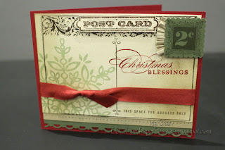 Christmas post card by Ida Chan #StampinUp Vancouver