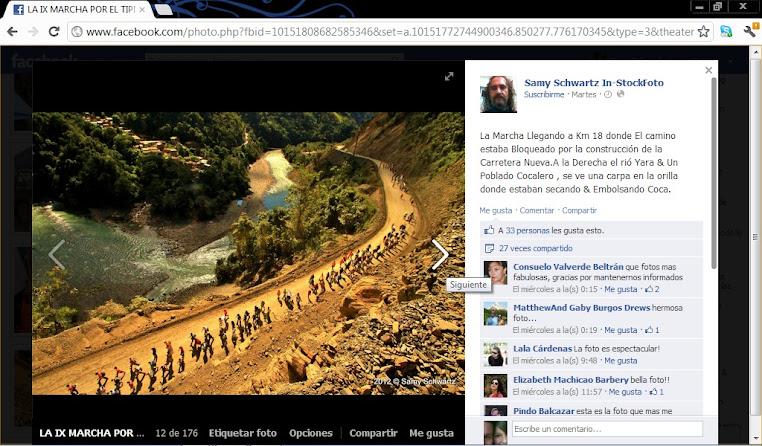 IX marcha indigena camino a La Paz, rio Yata