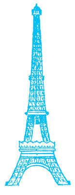 Eiffle Tower Picture Blue