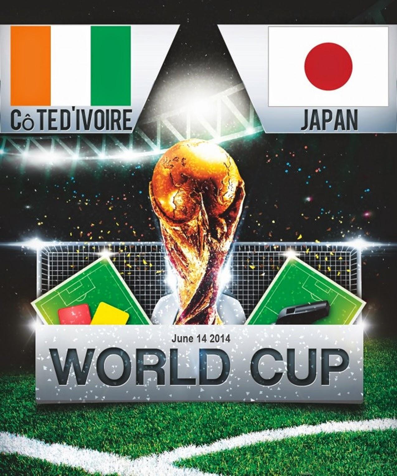 FIFA World Cup 2014 Ivory Coast Vs Japan