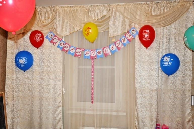 День рождения с Hello Kitty