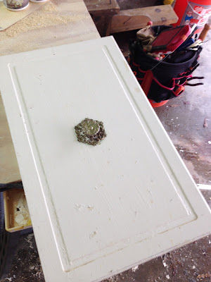 Cabinet door for making picture frames