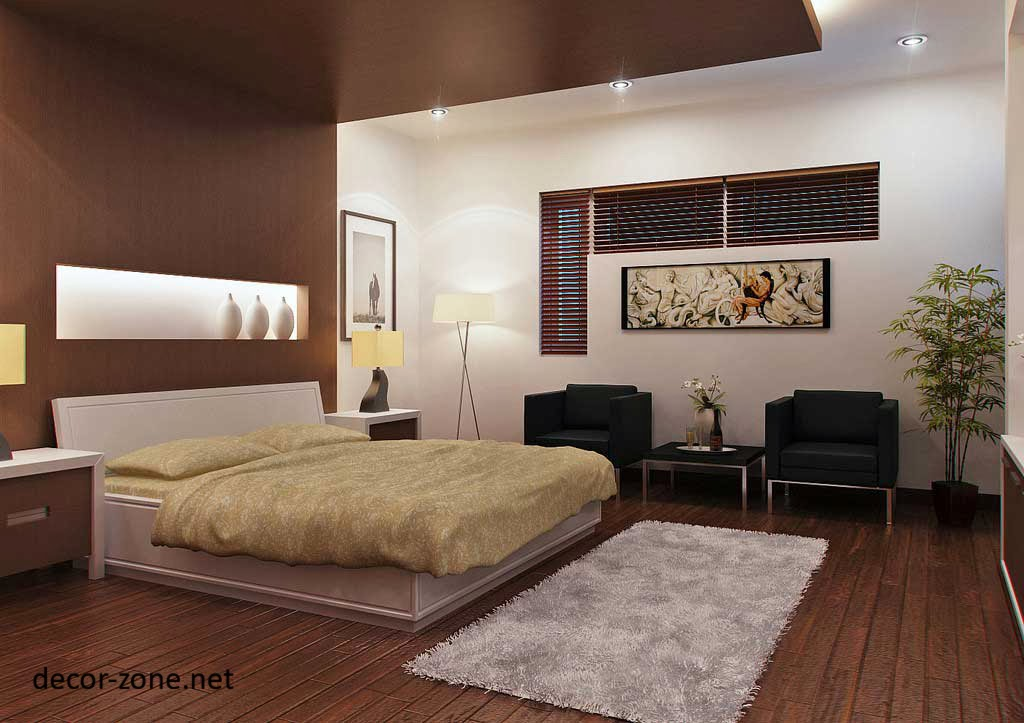 Modern bedroom designs in a brown color for Black white and brown bedroom ideas
