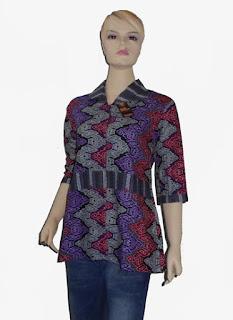 Model baju batik kantor wanita
