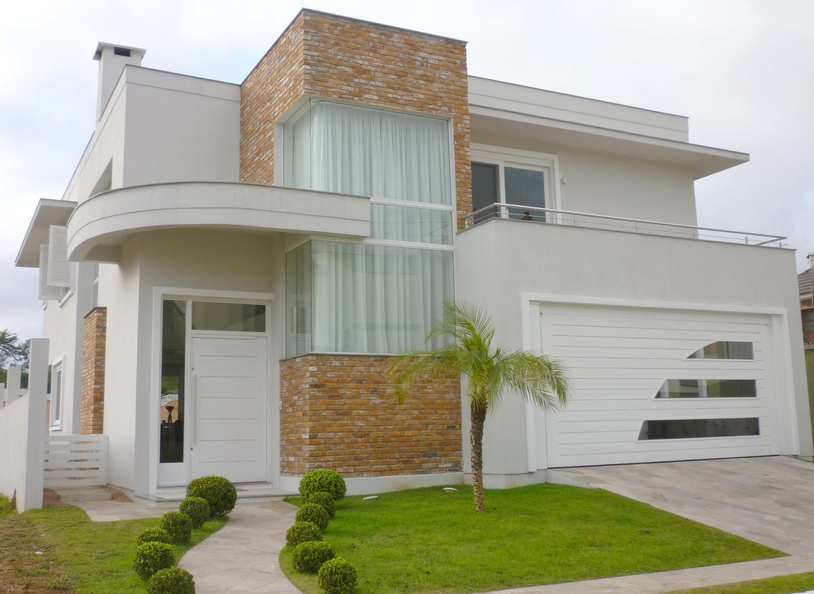 Construindo minha casa clean jardins externos fachadas - Entradas para casas ...