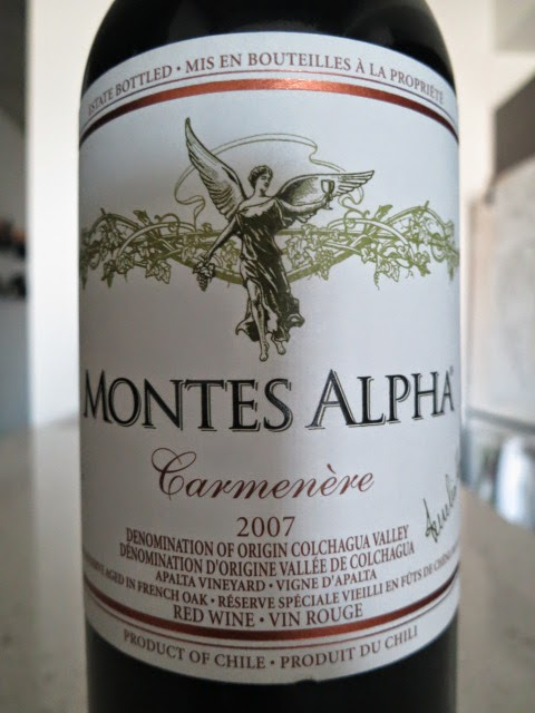 Wine Review of 2007 Montes Alpha Carmenère from Apalta Vineyard, Colchagua Valley, Chile