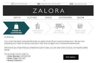 Shoping di Zalora