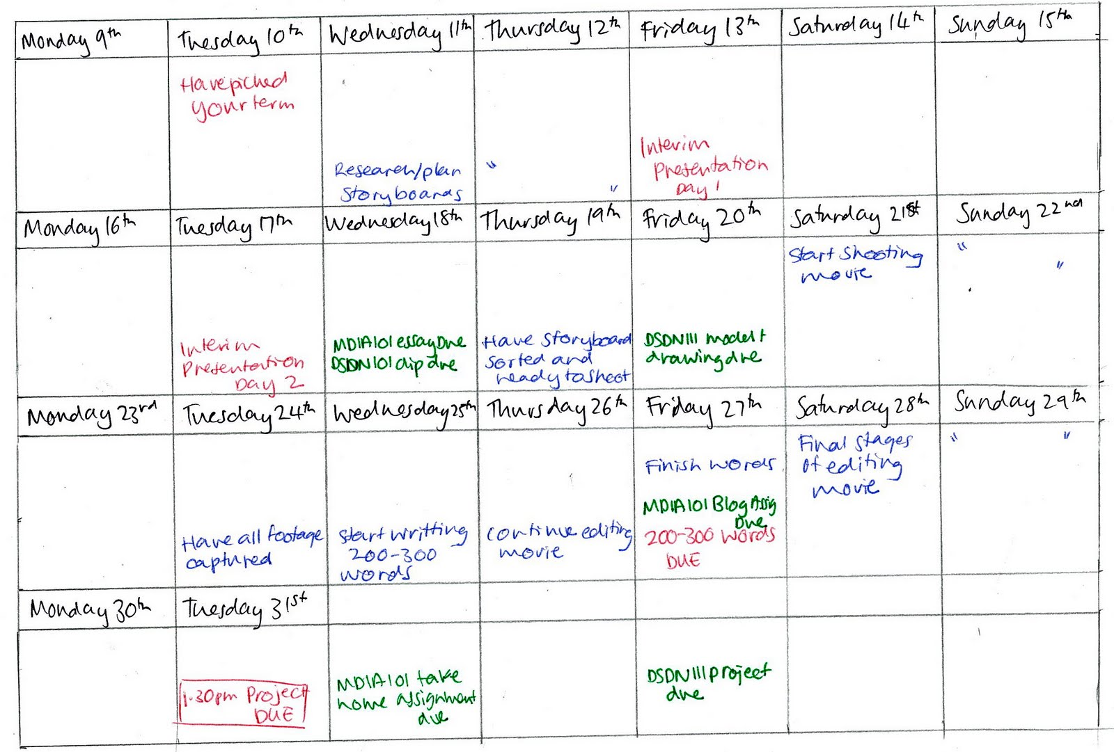 time management plan This video demonstrates how emailed requests for work are reviewed and time  estimated creating a calendar appointment for work that will.