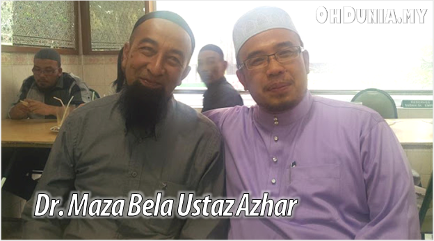 Cubaan Fitnah Zina, Dr. Maza Pertahan Ustaz Azhar