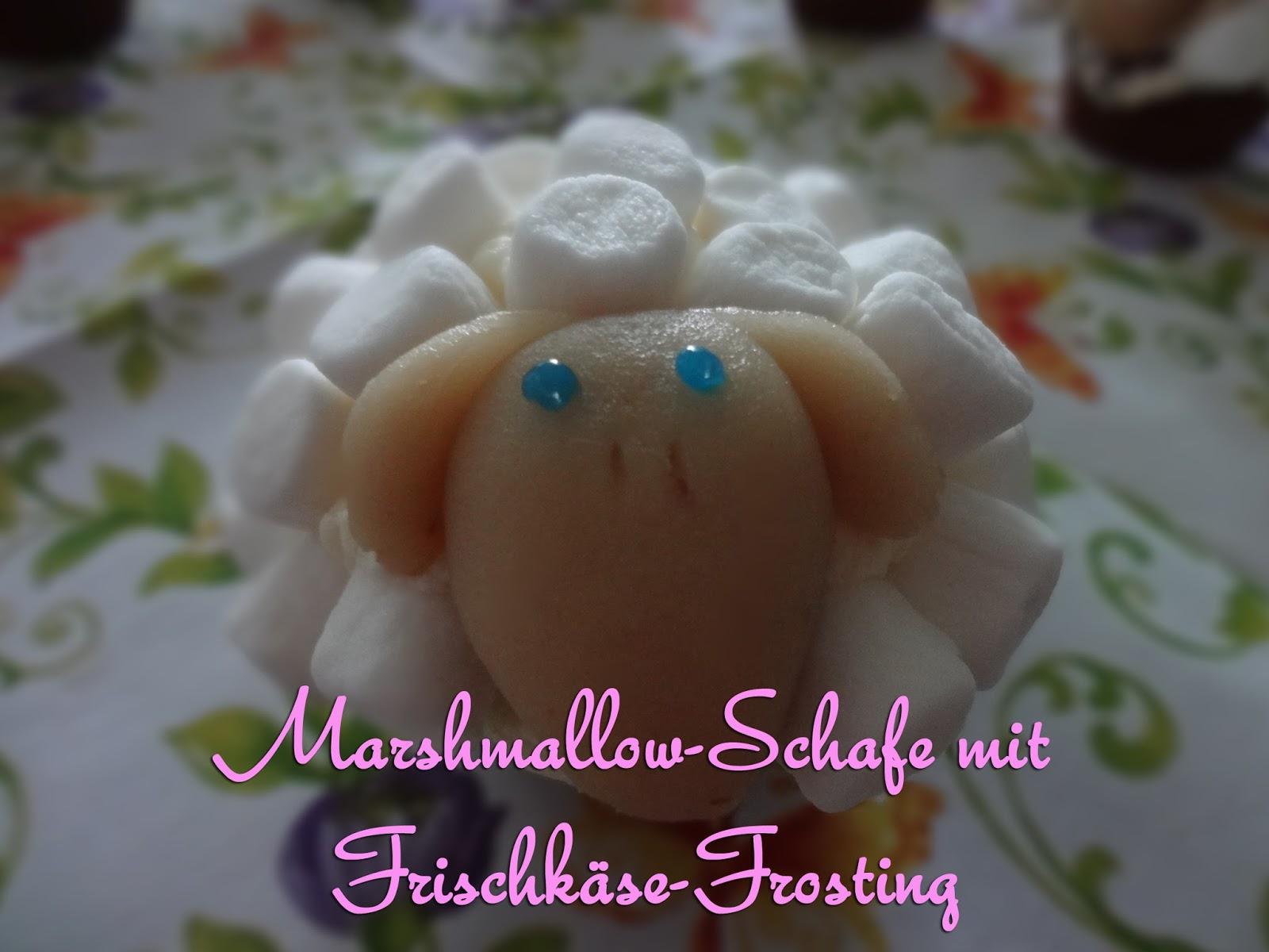 Marshmallow-Schafe mit Frischkäse-Frosting