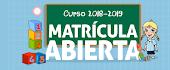 ABIERTO EL PLAZO DE MATRICULACIÓN PARA LAS GUARDERÍAS. CURSO 2018-2019