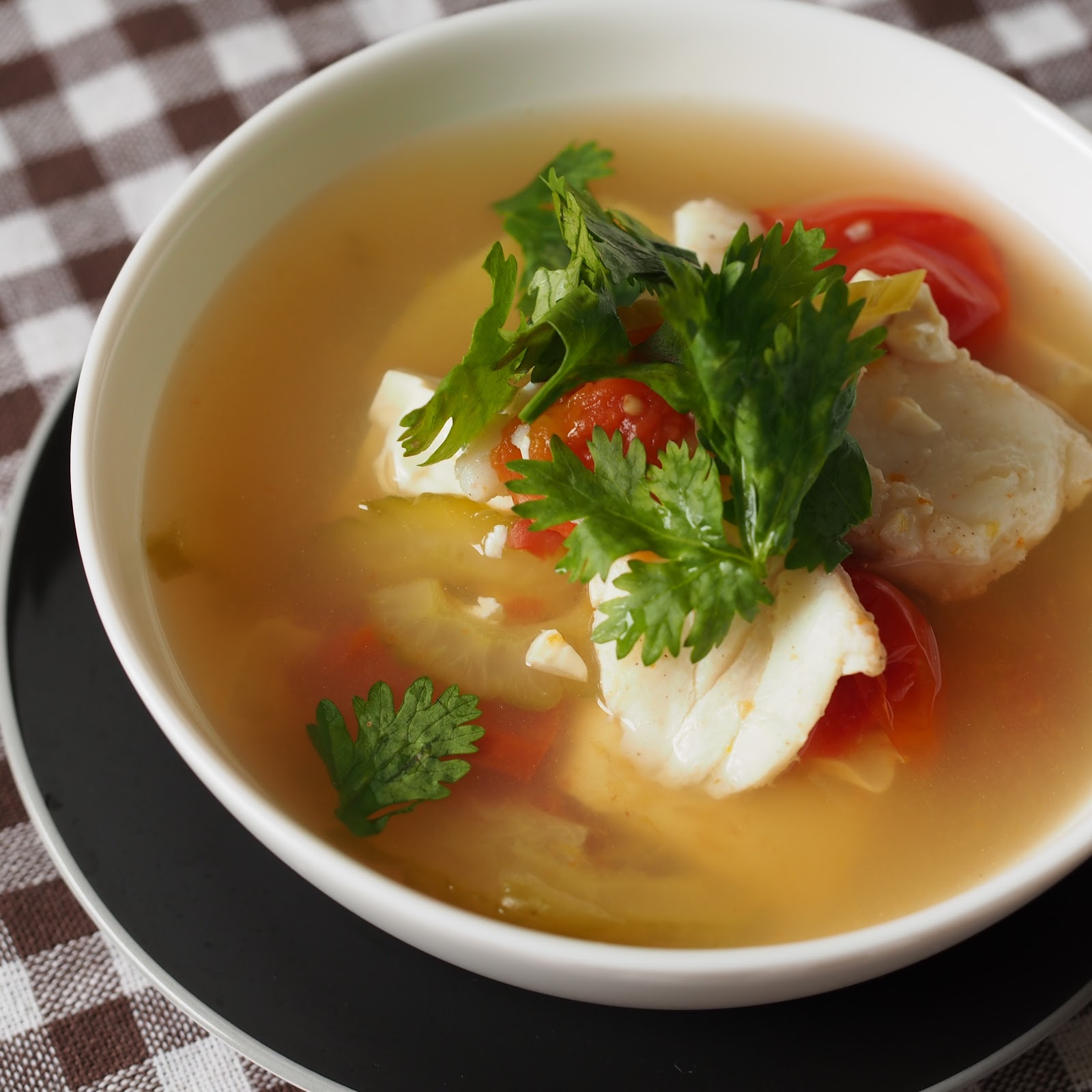 Asian rice and fish soup recipes