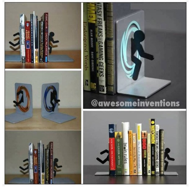 Shareinventions glow in the dark pebbles - Portal bookend ...