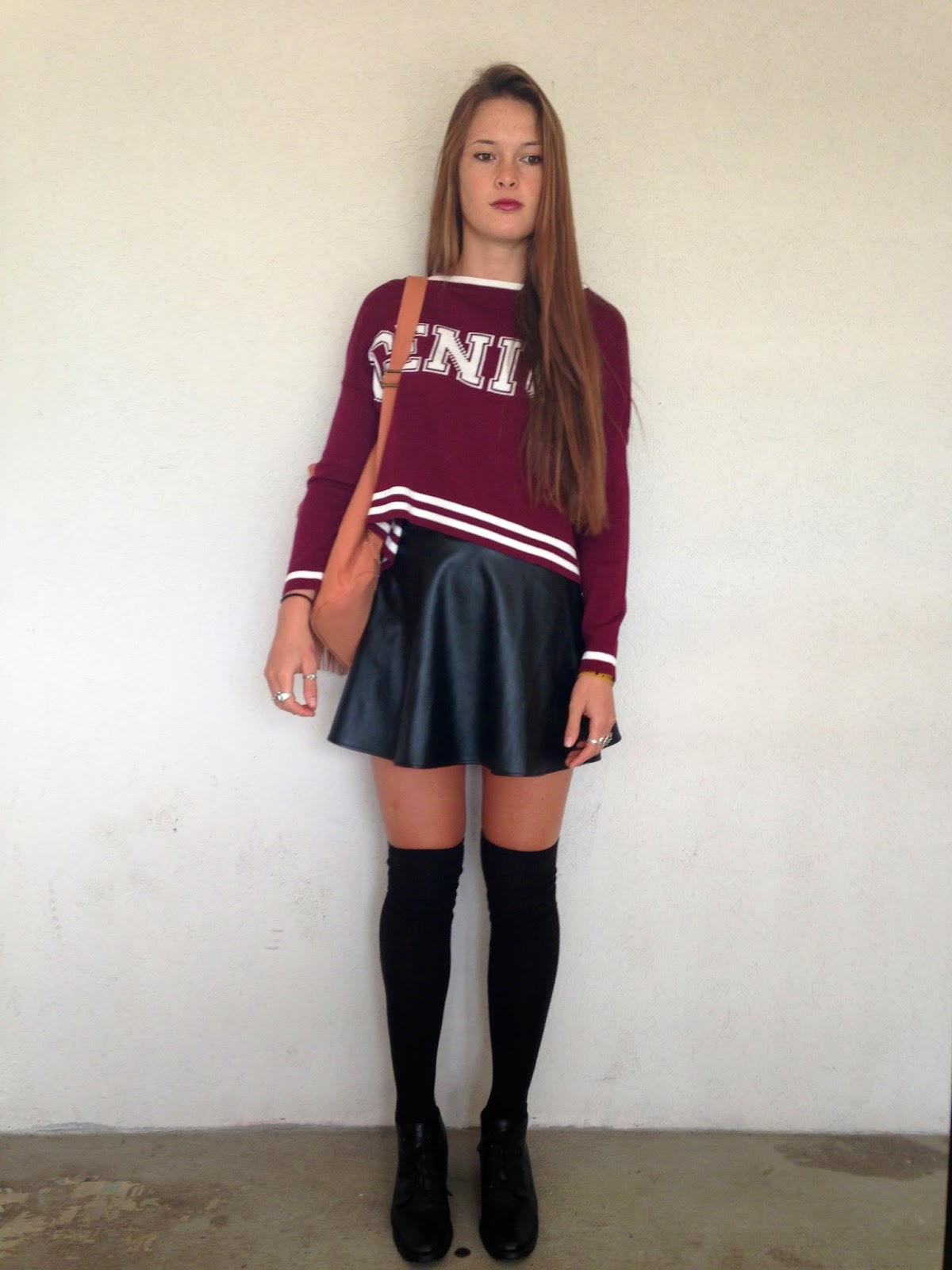with knee high socks skirt navy knee high socks eggshell