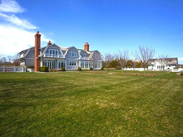 Backyard Hamptons mansion Water Mill estate