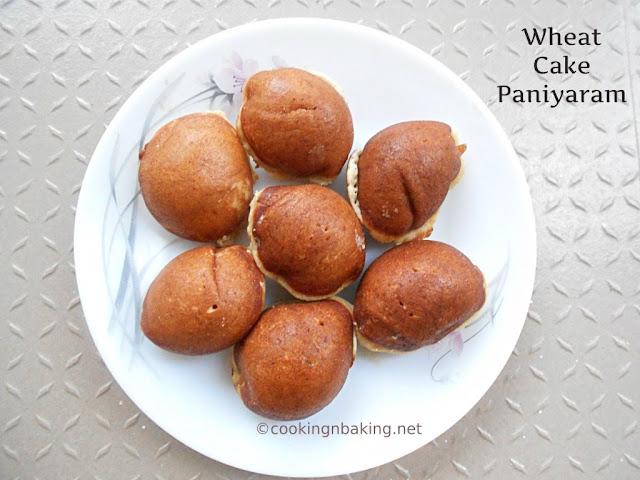 Wheat Cake Paniyaram