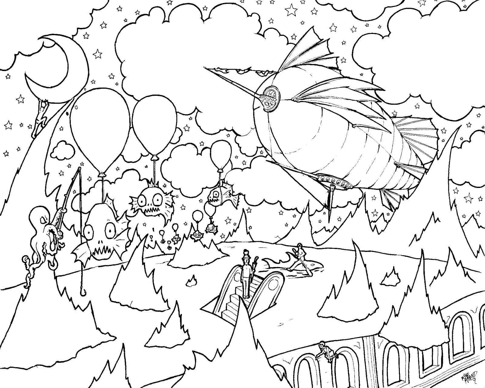 psychedelic coloring pages - photo#40