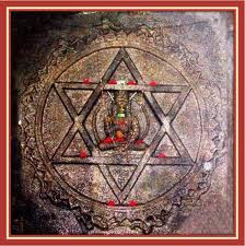 Image result for six pointed star on hindu shrines
