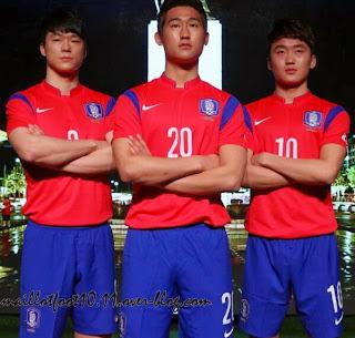 Le maillot de la Corée du Sud de la Coupe du monde 2014