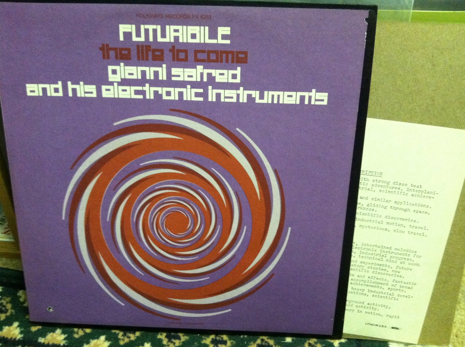 Gianni Safred His Electronic Instruments Futuribile The Life To Come