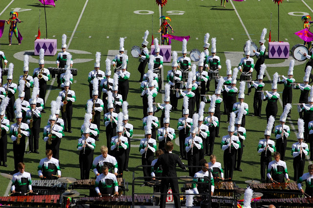 Lafayette High School Marching Band competing at the Lone Star Preview Marching Contest