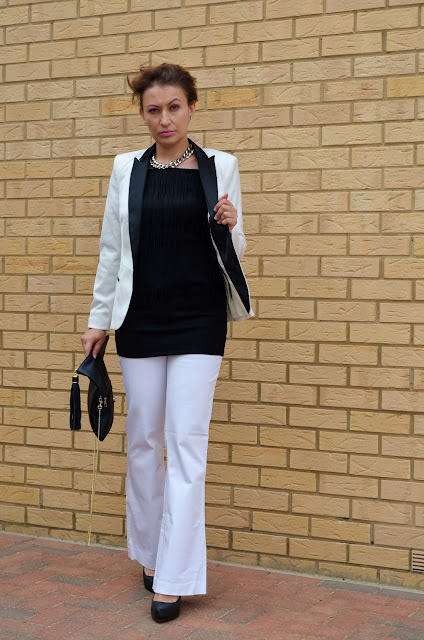 Black and White Elegance with Fringe Element***Sorry Boys – The Sun***
