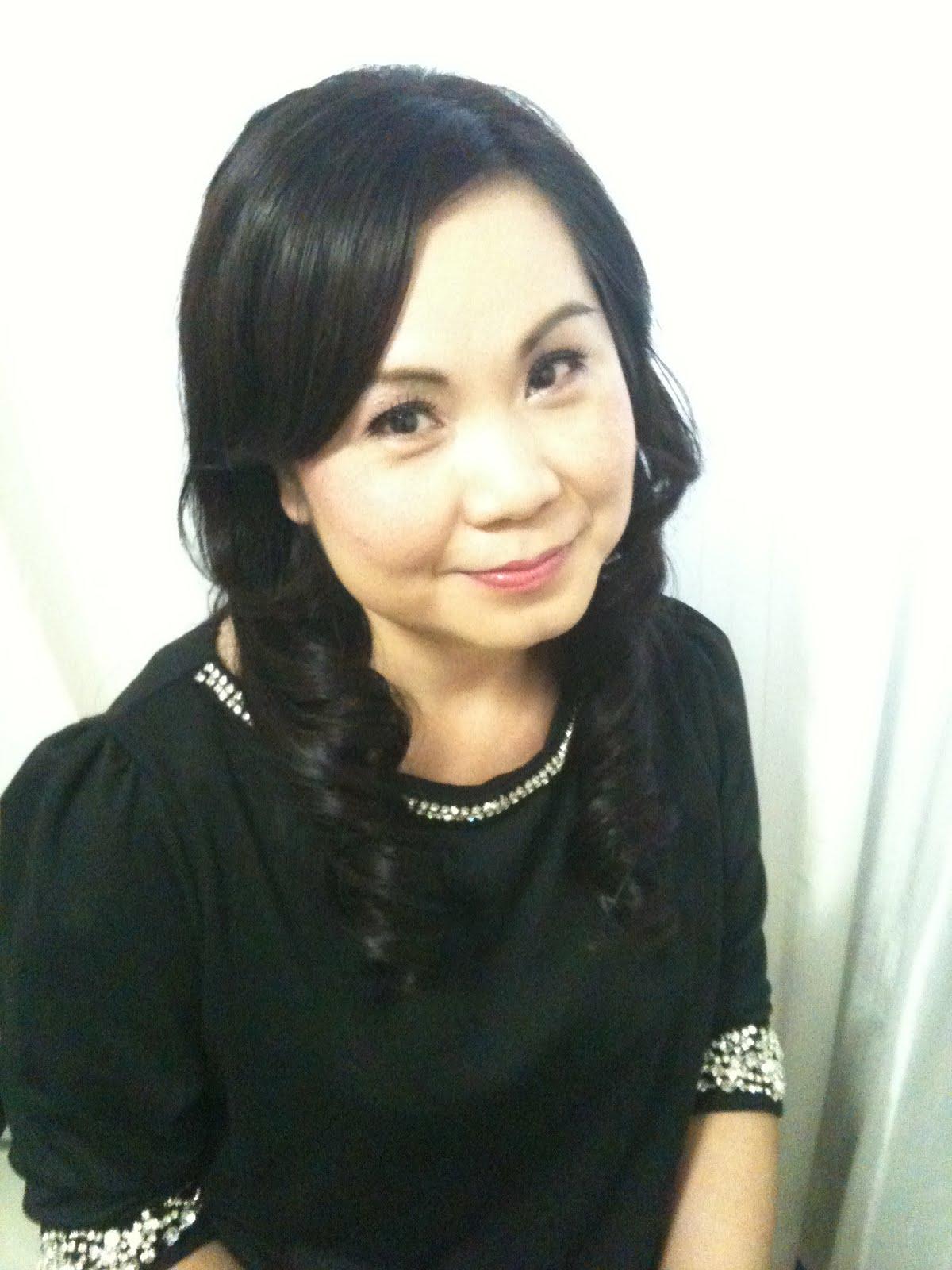 Bridal Make Up Artist Singapore: Wedding Dinner Long Hair Styles