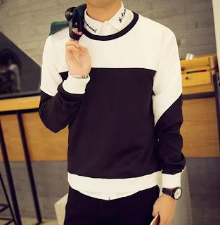 Sweater Cowok Korea Murah dan Gaya
