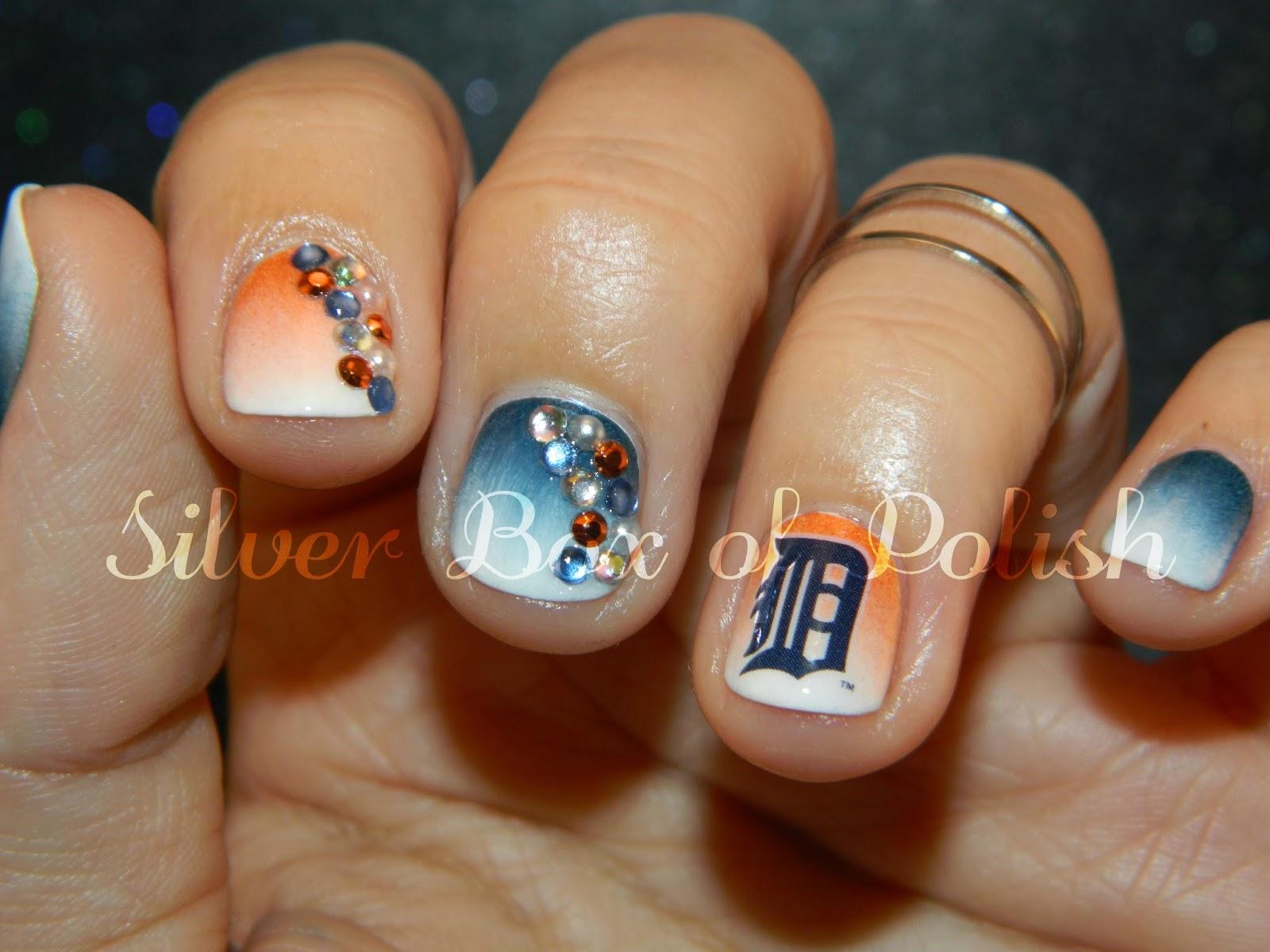 Silver Box of Polish: Baseball Nails! (Again!)
