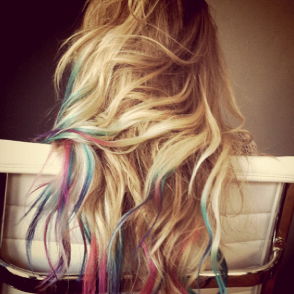 of hair chalking, it is creating a truly temporary design to your hair