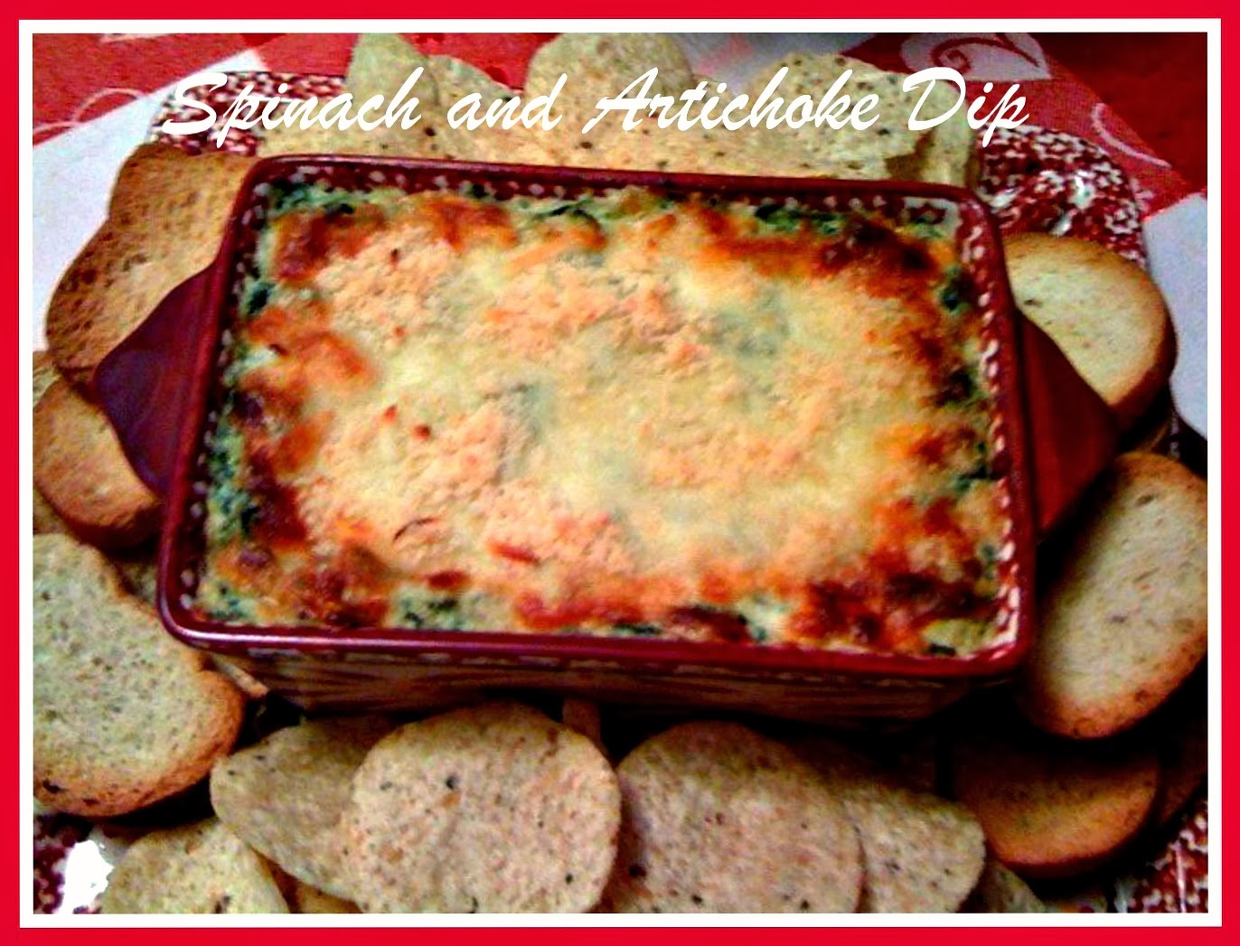 Sweet Tea and Cornbread: Hot Spinach and Artichoke Dip!