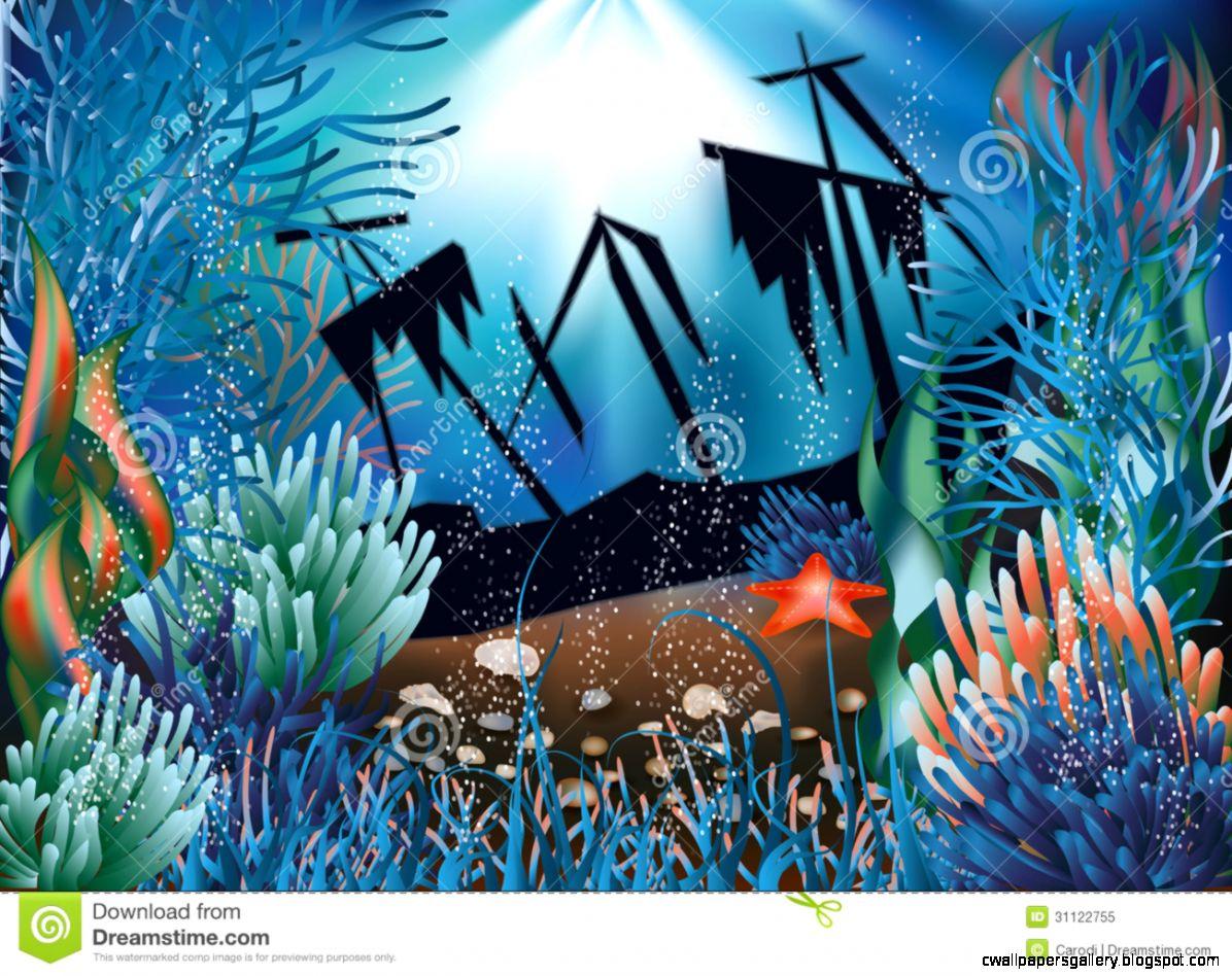Pin Sunken Pirate Ships Underwater Wallpaper With on Pinterest