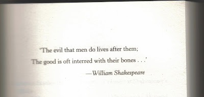Shakespeare quote The evil that men do lives after them